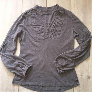 Tops - PrAna Womens Pintuck Button Shirt - Size Medium